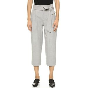 Club Monaco Gray Domme High Rise Cropped Pants